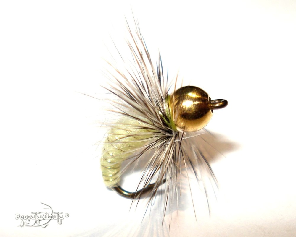 Caddis pupa yellow
