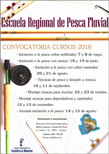 Cartel Curso pesca fluvial 2016