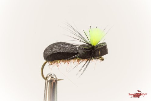 Beetle ice dub hackle