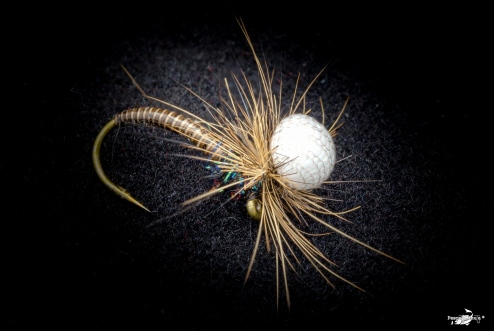 Emerger quill and hare fur