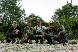 con Miguel, Santi, Darío y Pablo
