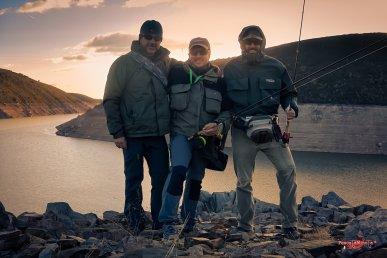 con Isidro F. y C. Garza